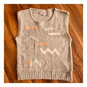 Vintage Hand Knit Sweater Vest, Medium